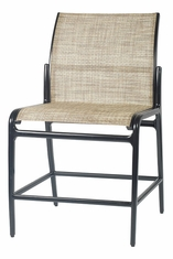 Phoenix By Gensun Luxury Cast Aluminum Patio Furniture Sling Stationary Balcony Stool w/o Arms