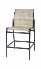 Phoenix By Gensun Luxury Cast Aluminum Patio Furniture Sling Stationary Bar Stool w/o Arms
