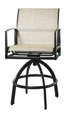 Phoenix By Gensun Luxury Cast Aluminum Patio Furniture Sling Swivel Bar Stool