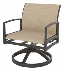 Phoenix By Gensun Luxury Cast Aluminum Patio Furniture Sling Swivel Rocking Lounge Chair