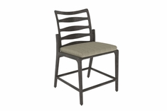 Phoenix By Gensun Luxury Cast Aluminum Patio Furniture Stationary Balcony Chair