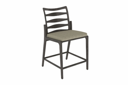 Phoenix By Gensun Luxury Cast Aluminum Patio Furniture Stationary Bar Height Chair