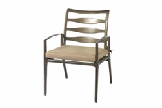 Phoenix By Gensun Luxury Cast Aluminum Patio Furniture Stationary Dining Chair