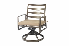 Phoenix By Gensun Luxury Cast Aluminum Patio Furniture Swivel Dining Chair