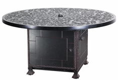"Regal Cast Aluminum 54"" Round Outdoor Gas Fire Pit"