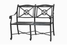 San Marino By Gensun Luxury Cast Aluminum Patio Furniture Bench