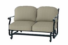 San Marino By Gensun Luxury Cast Aluminum Patio Furniture Loveseat Glider