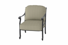 San Marino By Gensun Luxury Cast Aluminum Patio Furniture Stationary Club Chair