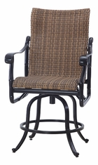 San Marino By Gensun Woven High Back Patio Furniture Swivel Counter Height Chair