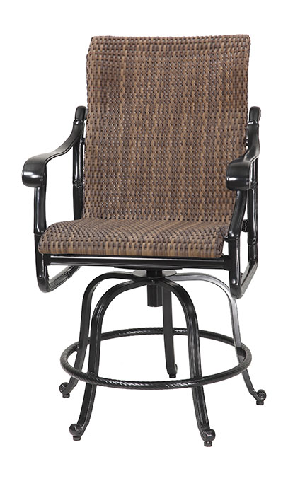San Marino By Gensun Woven High Back Patio Furniture Swivel Rocking Counter Height Chair