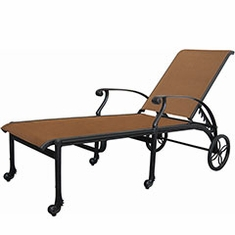 San Marino By Gensun Patio Furniture Padded Sling Chaise Lounge
