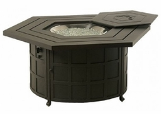 Sherwood By Hanamint Luxury Cast Aluminum Hexagonal Enclosed Gas Fire Pit Table