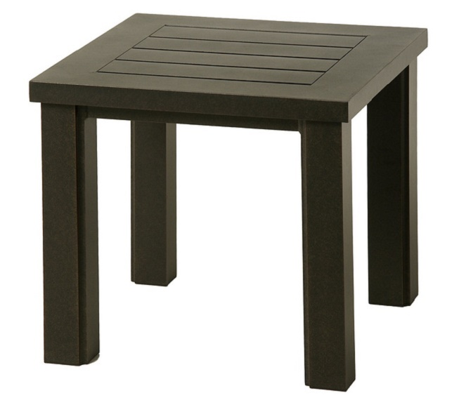 Sherwood By Hanamint Luxury Cast Aluminum Patio Furniture 24 Square End Table