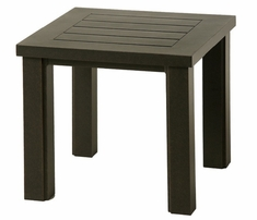 """Sherwood By Hanamint Luxury Cast Aluminum Patio Furniture 24"""" Square End Table"""