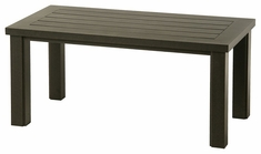 "Sherwood By Hanamint Luxury Cast Aluminum Patio Furniture 24"" x 48"" Rectangular Coffee Table"