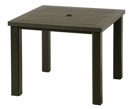"""Sherwood By Hanamint Luxury Cast Aluminum Patio Furniture 36"""" Square Dining Table"""