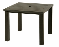 "Sherwood By Hanamint Luxury Cast Aluminum Patio Furniture 36"" Square Dining Table"