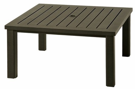 "Sherwood By Hanamint Luxury Cast Aluminum Patio Furniture 44"" Square Coffee Table"