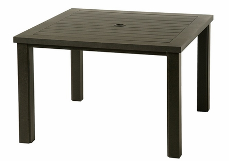 """Sherwood By Hanamint Luxury Cast Aluminum Patio Furniture 44"""" Square Dining Table"""