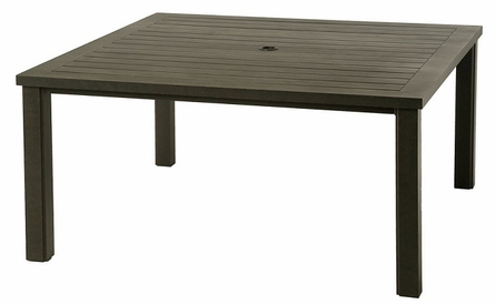 """Sherwood By Hanamint Luxury Cast Aluminum Patio Furniture 60"""" Square Dining Table"""