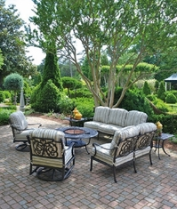 St. Augustine By Hanamint Luxury Cast Aluminum Patio Furniture 7-Piece Deep Seating Set