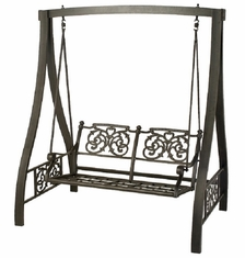 St. Augustine By Hanamint Luxury Cast Aluminum Patio Furniture A-Frame Swing