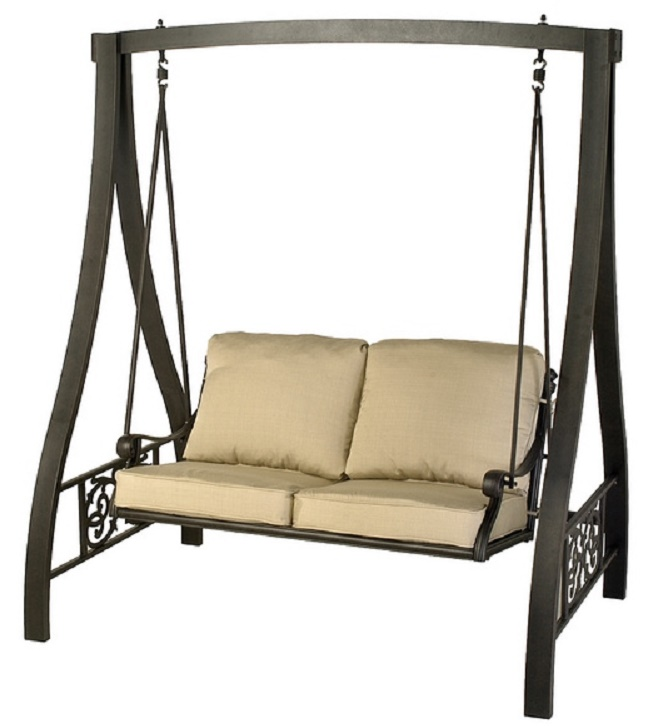Aluminum Patio Furniture A Frame Swing Loading Zoom