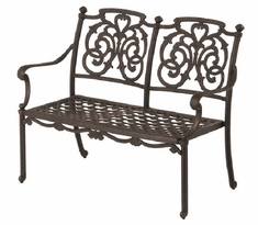 St. Augustine By Hanamint Luxury Cast Aluminum Patio Furniture Bench