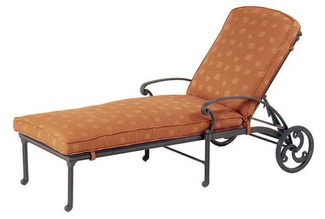 St augustine by hanamint luxury cast aluminum patio for Cast aluminum chaise