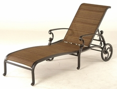 St. Augustine By Hanamint Luxury Cast Aluminum Patio Furniture Sling Chaise Lounge