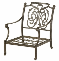 St. Augustine By Hanamint Luxury Cast Aluminum Patio Furniture Stationary Club Chair