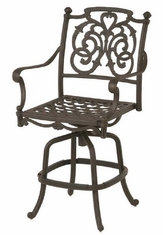 St. Augustine By Hanamint Luxury Cast Aluminum Patio Furniture Swivel Counter Height Chair