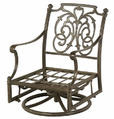 St. Augustine By Hanamint Luxury Cast Aluminum Patio Furniture Swivel Glider Club Chair