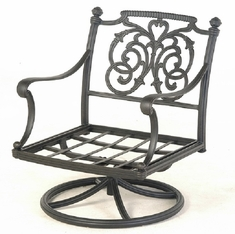 St. Augustine By Hanamint Luxury Cast Aluminum Patio Furniture Swivel Rocker Club Chair