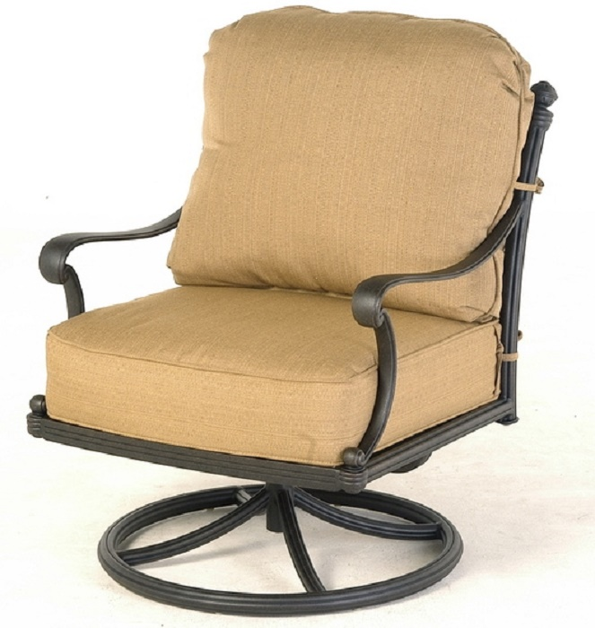 St Augustine By Hanamint Luxury Cast Aluminum Patio Furniture Swivel Rocker Club Chair