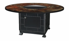 "Stained Glass 54"" Round Outdoor Gas Fire Pit"