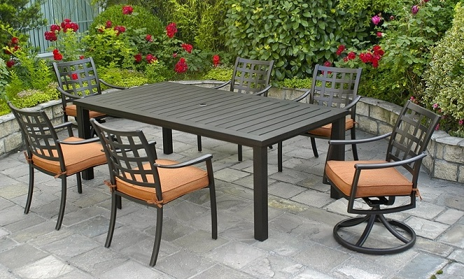 Stratford By Hanamint Luxury Cast Aluminum 6 Person Dining