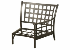 Stratford By Hanamint Luxury Cast Aluminum Left Crescent Chair