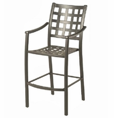 Stratford By Hanamint Luxury Cast Aluminum Stationary Bar Height Chair