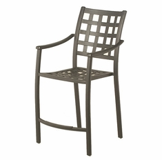 Stratford By Hanamint Luxury Cast Aluminum Stationary Counter Height Chair