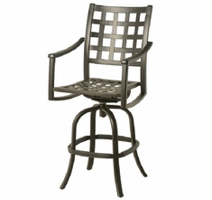 Stratford By Hanamint Luxury Cast Aluminum Swivel Bar Height Chair