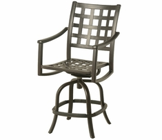 Stratford By Hanamint Luxury Cast Aluminum Swivel Counter Height Chair