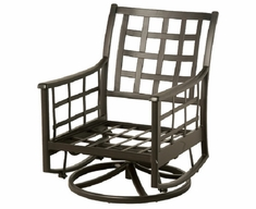 Stratford By Hanamint Luxury Cast Aluminum Swivel Glider Club Chair