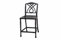 Terrace By Gensun Luxury Cast Aluminum Patio Furniture Armless Bar Height Chair