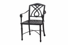Terrace By Gensun Luxury Cast Aluminum Patio Furniture Stationary Dining Chair