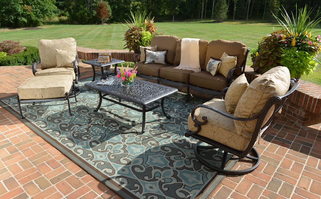 Amalia 6-Piece Luxury Cast Aluminum Deep Seating