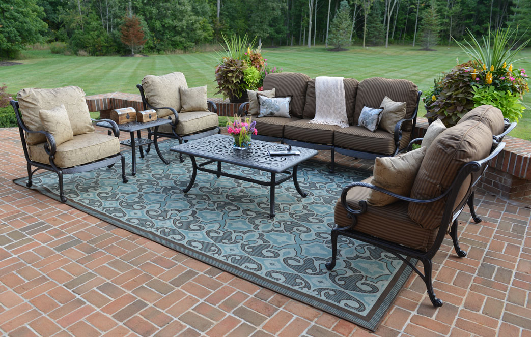 Amalia 6-Piece Luxury Cast Aluminum Patio Furniture Deep