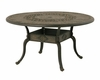 "The Amalia Collection Cast Aluminum Patio Furniture 54"" Round Dining Table With Leg Base"