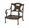 The Amalia Collection Cast Aluminum Patio Furniture Stationary Club Chair With Cushion