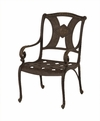 The Amalia Collection Cast Aluminum Patio Furniture Stationary Dining Chair With Cushion